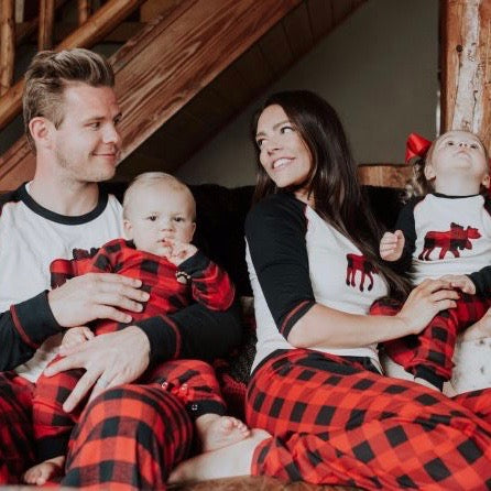 716986807c8d Moose Plaid Family Pajama Set - Little Trendsetter