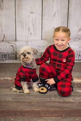 Plaid Bear Cheeks Flapjack Pajamas