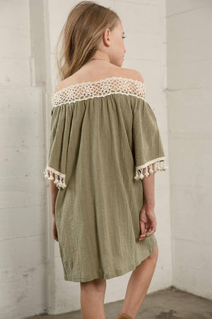 Off The Shoulder Tunic Dress
