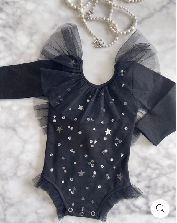 Stardust Playsuit Noir