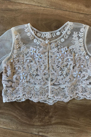 Sweet Beaded Long Sleeve Bolero