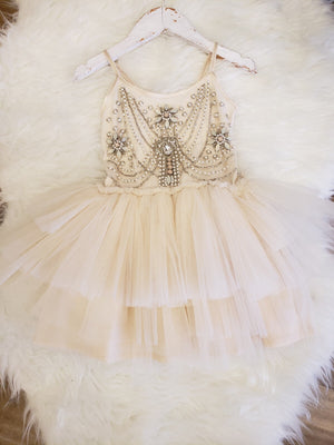 Pearl Necklace Tutu Dress