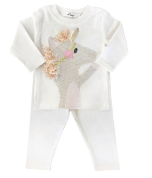 Oh Baby! Two Piece Set- Star Unicorn
