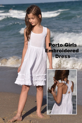 Porto Girls Embroidered Dress