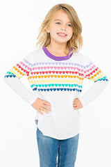 Chaser Prism Hearts Love Pullover