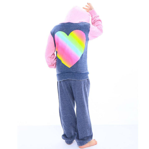 Rainbow Hearts Color Block Sweatsuit