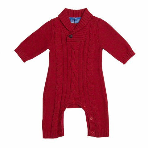 Little Gentleman Cable Knit Coverall
