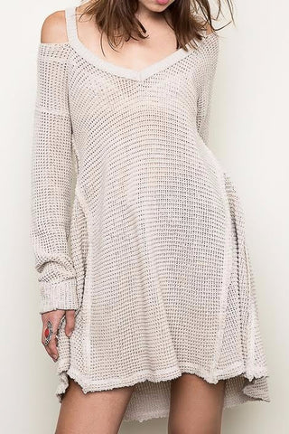 Woman's Knit Sweater Dress