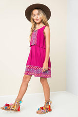 Embroidered Tribal Tank Dress