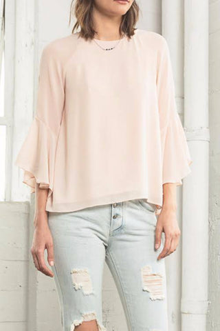 Woman's Bell Sleeve Blouse