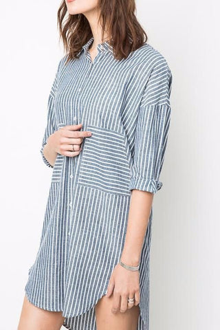 Woman's Striped Shirt Dress