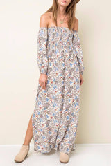 Woman's Off the Shoulder Print Dress