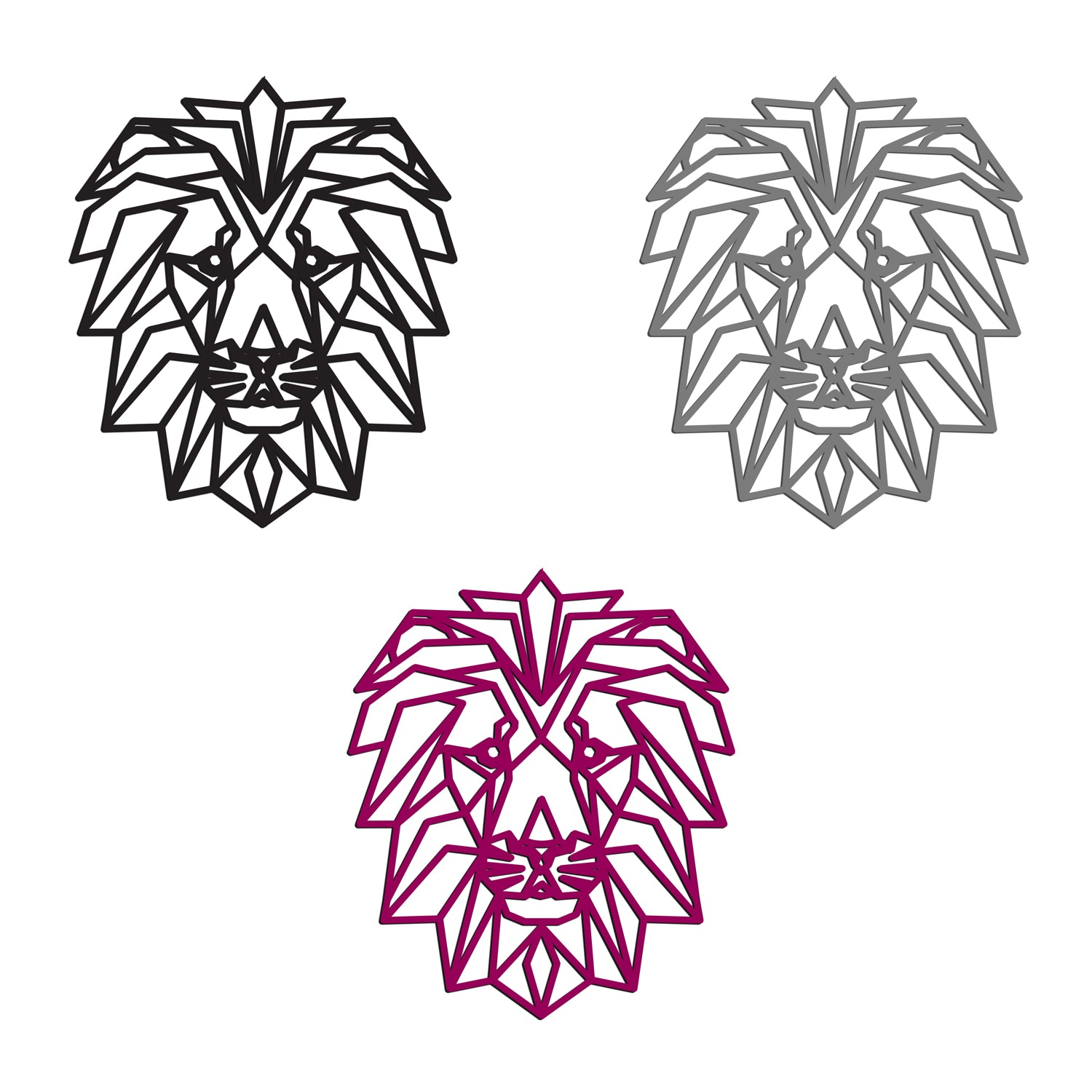 Geometric Lion Head Animal Wall Art Contemporary Wall Art Polygon Ani Ever So Personal Pes, exp, dst, hus, jef, vip, vp3. geometric lion head animal wall art contemporary wall art polygon animal outline gloss acrylic precision laser cut