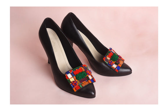 Black Melisande Court Shoe