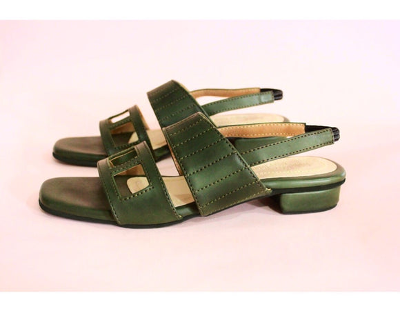 Forest Green Bria Sandals