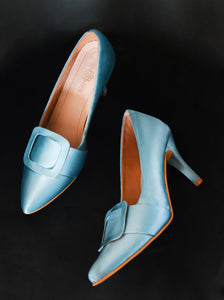 Bright Blue Audrey Stilettos