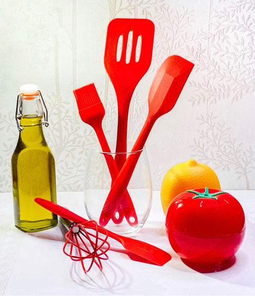 Red Silicone Utensils Set