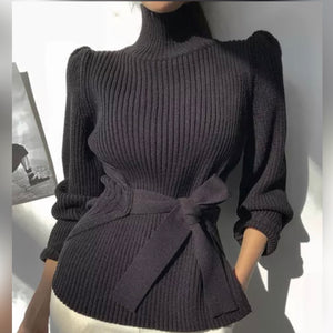 Gorgeous Turtleneck with Tie front