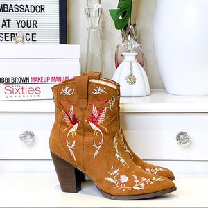 Penny Loves Kenny Embroidered Cowboy Boot Size 7.5