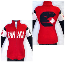 Load image into Gallery viewer, Roots Olympic 2014 Authentic 100% Wool Cardigan Sweater