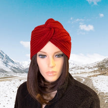 Load image into Gallery viewer, Turban Style Knit Hat Four Colours Brand New OS