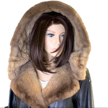 Load image into Gallery viewer, Vintage Fur Trimmed Leather Jacket