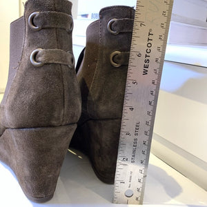 Browns Suede Bootie Size 8