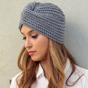 Turban Style Knit Hat Four Colours Brand New OS