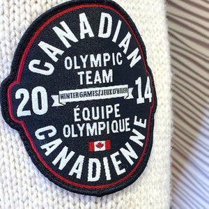 Roots Olympic 2014 Authentic 100% Wool Cardigan Sweater