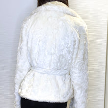 Load image into Gallery viewer, Armor Jeans Faux Fur Belted Jacket Size Medium