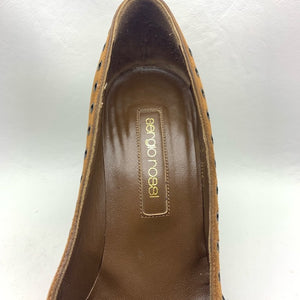 Sergio Rossi Shoes Pumps Brown Suede Size 8 Pumps
