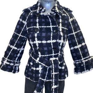 Michelle Windheuser 100% Fleece Wool Jacket Plaid