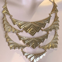 Load image into Gallery viewer, Gold Tone Necklace Metal Geometric Statement Piece Boho