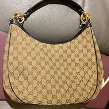 Load image into Gallery viewer, Gucci Monogram Hobo Bag with Gold/Silver hardware