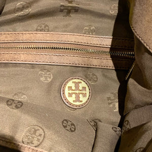 Tory Burch Brand Tote Bag Brown Leather Diamond Stitch Tote Bag