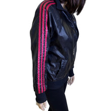 Load image into Gallery viewer, Adidas Wet Look Wind Breaker Bomber Jacket Size Small