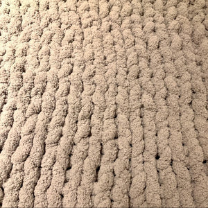 Chunky Knit Blanket Hand Made Kingsize