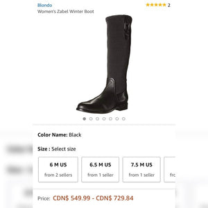 Blondo Leather Knee High Boots Size 8.5