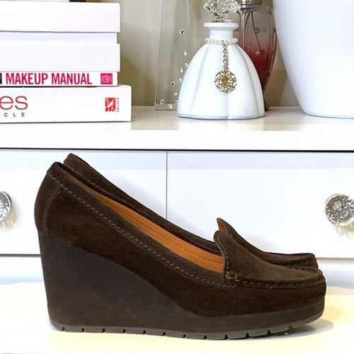 Geox Brown Suede Loafer Size 10