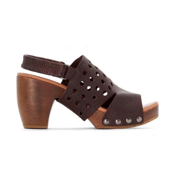 DKODE Sandals Leather and Wood Sandal Size 39