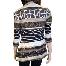 Load image into Gallery viewer, Frank Lyman Design Animal Print Cardigan