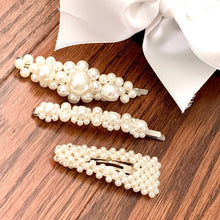 Load image into Gallery viewer, Faux Pearl Barrettes