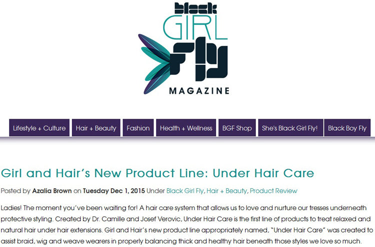 Black Girls Fly Mag Under Hair Care Review Dec, 2015