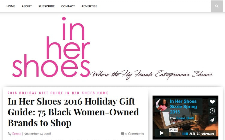 In Her Shoes Blog Under Hair Care feature