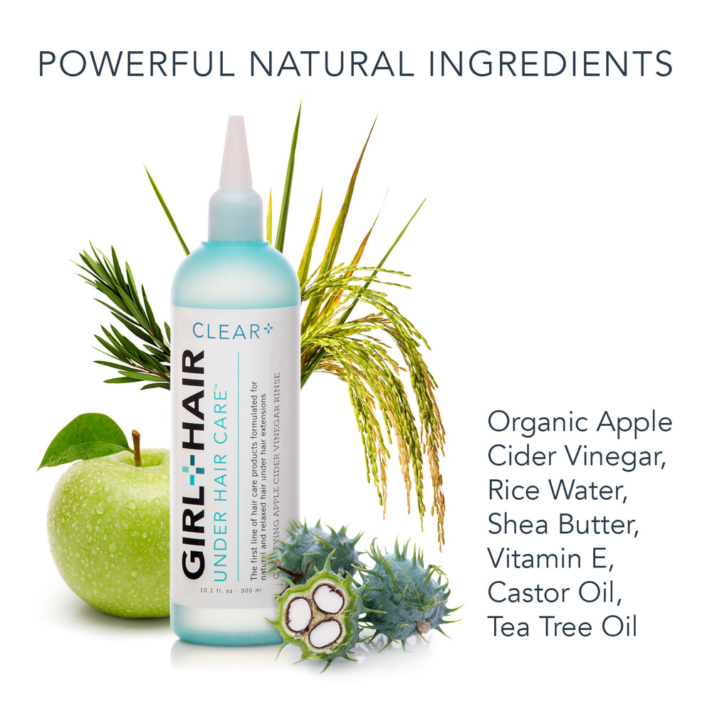 CLEAR+ Apple Cider Vinegar Clarifying Rinse For All Hair Types - GirlandHair Natural Hair Care