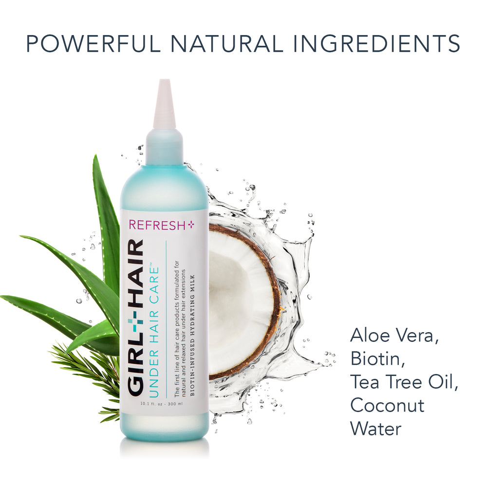 REFRESH+ Aloe Vera Biotin Hydrating Hair Milk - GirlandHair Natural Hair Care