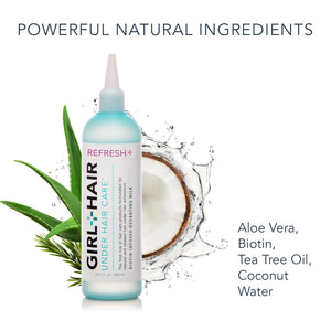 REFRESH+ Aloe Vera Biotin Hydrating Hair Milk For Curly Hair - GirlandHair Natural Hair Care