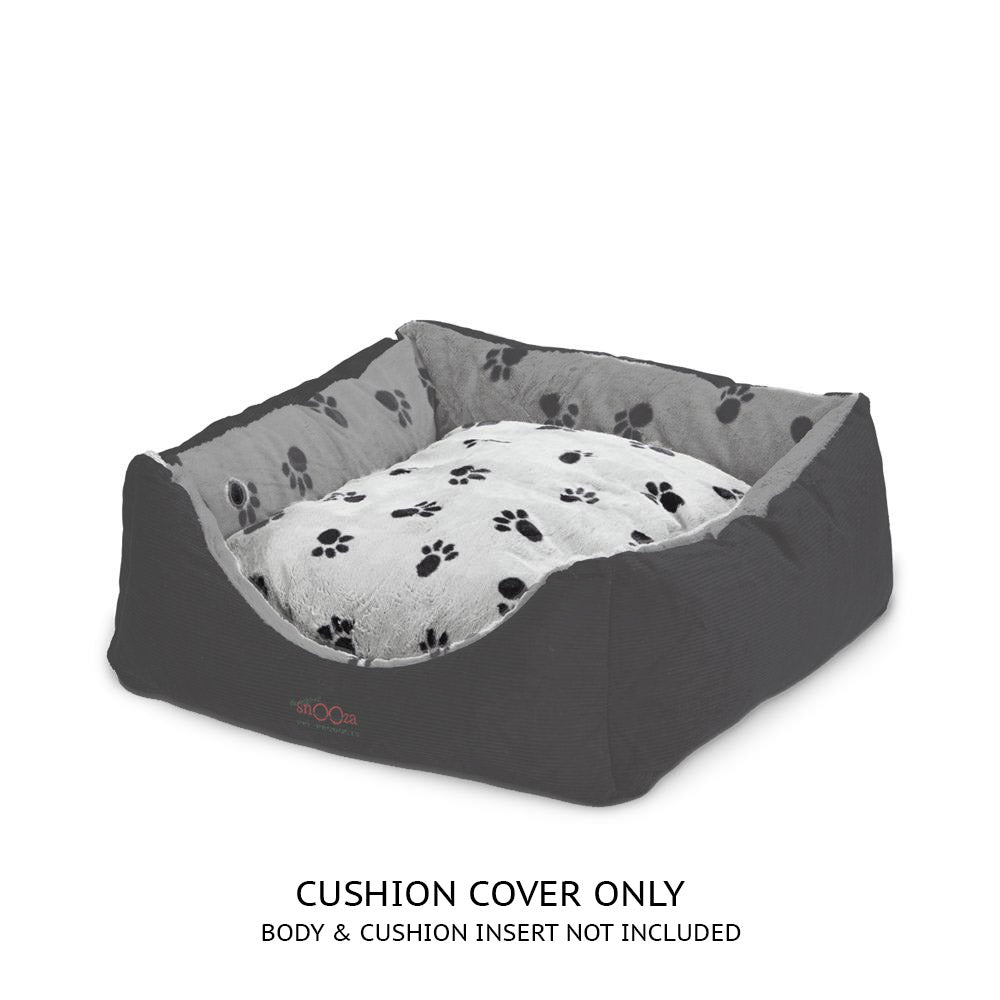 Jacks Bed Cushion Cover Silver/Black
