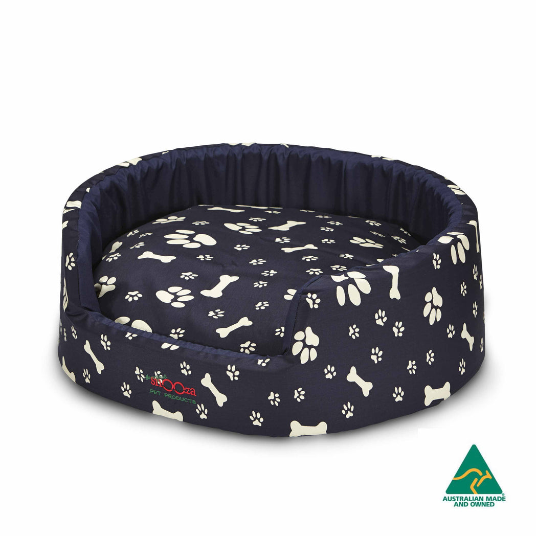 Buddy Bed Paws N Bones Navy