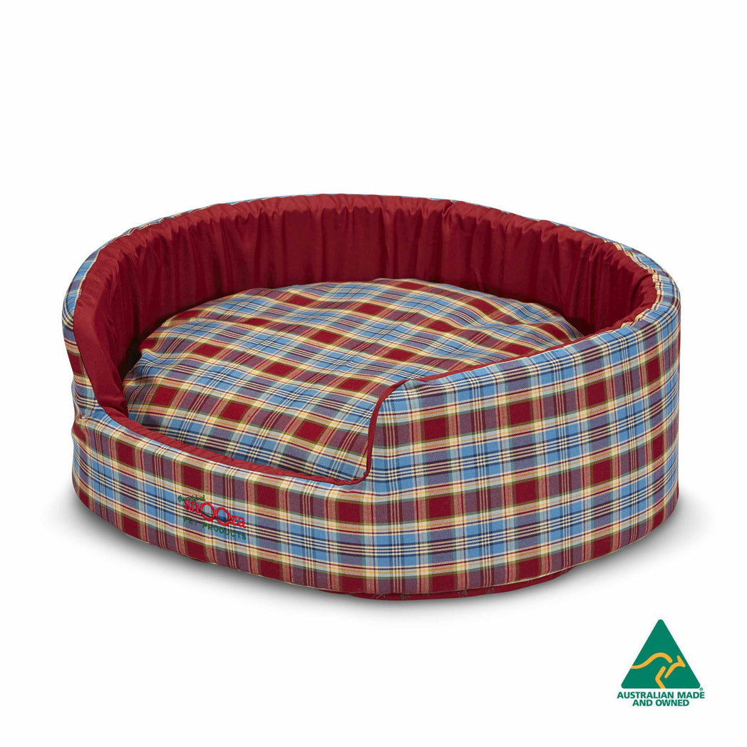Buddy Bed Red/Blue Tartan